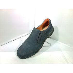 Zapatos Cuero Legitimo Azul Petroleo C/elastico 147