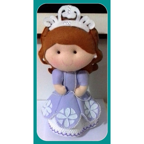 Boneca Princesa Sofia Em Feltro