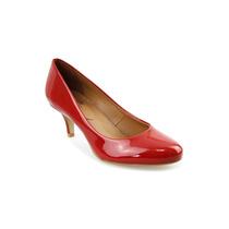 Sapato Feminino Scarpin Em Couro Lux/verniz Salto Forrado