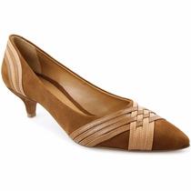 Sapato Feminino Scarpin Salto Baixo 100% Camurça Lindíssimo