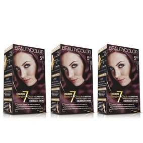 Kit Coloração Permanente Beautycolor Vinho Irisado 5.62