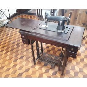 Máquina Costura Pfaff Gabinete Madeira Decora Antiga Retrô