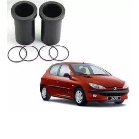 4x Bucha Peugeot 206 Rolamento Eixo Suspensao Traseira