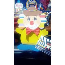 Porta Bombom Eva Palhaço Decoração Circo Kit C/10