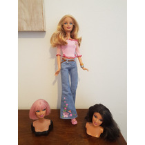 Boneca Barbie Swappin Troca Busto Da Mattel
