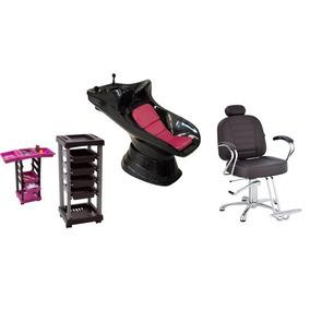 Kit Cadeira Reclinável 1carrinho Lavatório Aquecedor Brinde