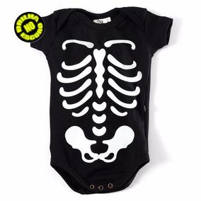 Body Halloween Raio-x Esqueleto Brilha No Escuro