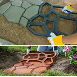 Molde Tipo Piedra Concreto Jardines Caminos 50x50 Env Inmedi