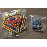 Pin Atom Y Parche Supergirl Legion Of Collectors Funko