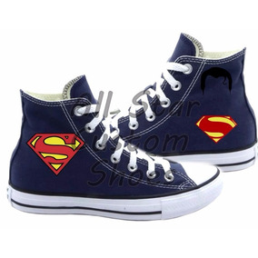All Star Superman Super Homem Converse Tênis Custom