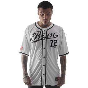 Camisa Baseball Prison - Camisas Masculinas no Mercado Livre Brasil 57436eab4378b