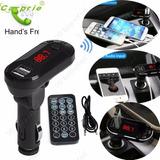 Kit Transmissor Carro Mão Livre Bluetooth Usb Sd Fm