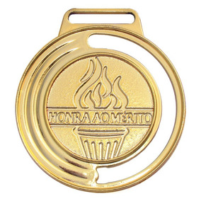 Kit 50 Medalhas Honra Ao Mérito 40mm Com Fita Campeonato