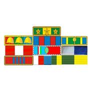Placa Com 10 Barretas De Medalhas - Fixação Por Imã
