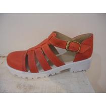 Franciscanas Zapatos Calado Plataformas Sandalias