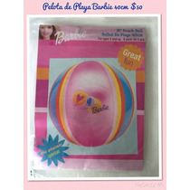 Paquete De 12 Pz Pelota Playa Barbie Inflable 40cm