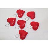 Chaveiro De Coração Em Feltro Vermelho ( 1,30 Cada Unidade)