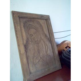 Virgen De Guadalupe Tallada En Madera