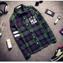 Nuevo Diseño Polo Camisa Hombre Y Mujer De Tela Escocesa