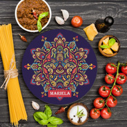 Tabla De Cocina Redonda Cortar Personalizada Hamsa T68r
