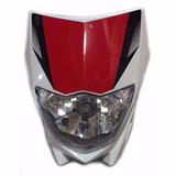 Mascara C/ Optica Delantera Blanca Yamaha Xtz Moto Genesis