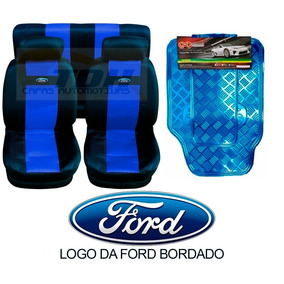 Ford Ká Kit Capa De Banco Logo Bordado + Kit De Tapete
