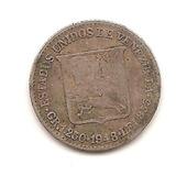 Moneda 25centimos (medio) De 1948 De Plata