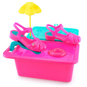 Sandália Infantil Barbie Festa Na Piscina 21600 - 23 Ao 34
