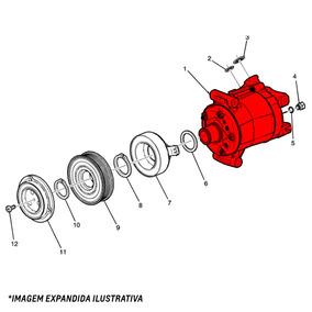 Compressor Ar Condicionado Montana 2011 Em Diante 52047725