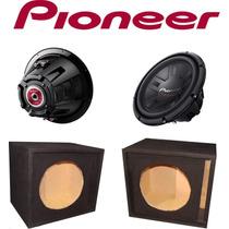 Woofer Pioneer De 12 Doble Bobina + Cajón Reflex
