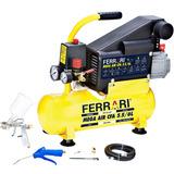 Compressor De Ar Mega Air, 6l, Com Kit , 750 W - Ferrari