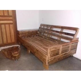 sof palete rstico envernizado madeira de demolio