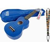 Kit Ukelele Soprano Mahalo U30g Azul + Estuche Correa Picks