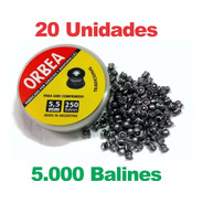 Balines 5,5 Mm Orbea 250 X 20 Aire Comprimido - Caza + Envío