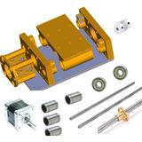 Kit Eje Cnc Completo Partes Mecánicas Con Husillo 50cm Grbl