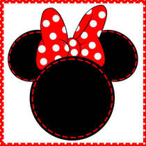 Kit Imprimible Minnie Mouse Roja Decoración Candy Bar Fiesta