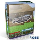 Kit Imprimible Minecraft Cumpleaños Decoración Candy Bar