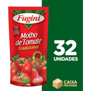 Molho De Tomate Tradicional Fugini Sachê - 32 Unidades 340g