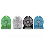 Ventilador Portatil Recargable Usb 3 Velocidades Cargador