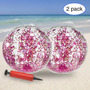 2 pack 24 inch+rose gold