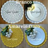 Kit 8 Sousplat / Jogo Americano Crochê Crochet Porta Prato