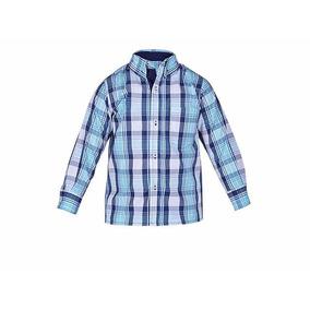 Camisa Azul Manga Larga 5706