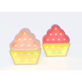 Lampara Velador Cupcake Deco Bebe Niños Luz Led Habitacion