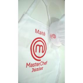 Kit Avental Infantil + Chapéu De Chef Com Nome Personalizado