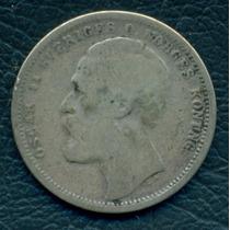 Moneda Suecia 1875 St 1 Krona Km#741 (plata)