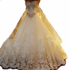 Vl07 Vestido Noiva Importado Lindo Luxo Frete Grátis
