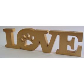 Letras Decorativa Palavra Completa Em Mdf Love Pintada Laca