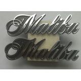Emblemas Malibu 81 (par) Originales. Metalicos.