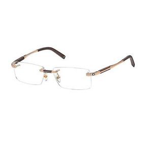 29bde9f5dfb43 Armação Oculos De Grau Mont Blanc Mb303 Dourado Meio Aro - Óculos no ...