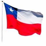 Bandera Chilena 120x180cm Estrella Bordada / Tecnofactory